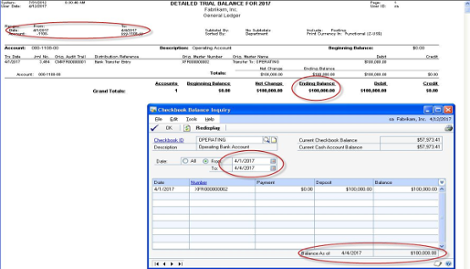 There are two common reasons why the Microsoft Dynamics GP Bank Reconciliation Checkbook Balance and the General Ledger Checkbook Balance do not match.